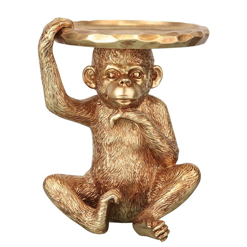 Golden Monkey art coffee table Bronze sculpture