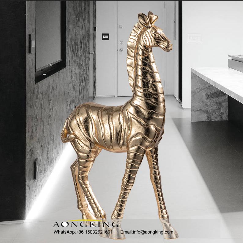 Bronze Life Size Outdoor Indoor Decor Zebras Sculpture