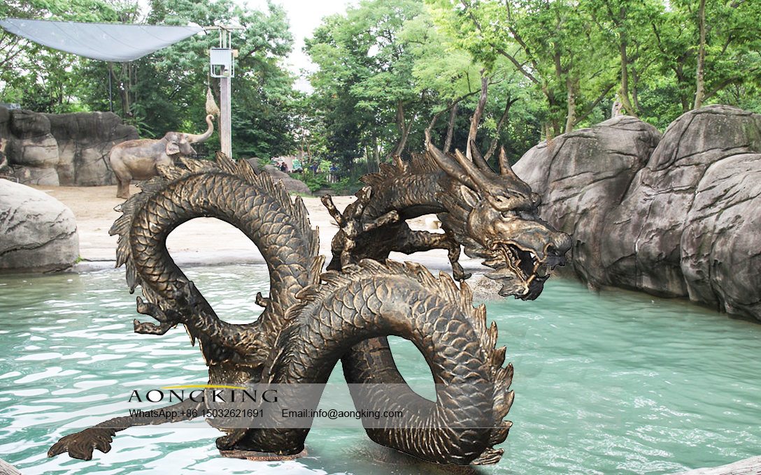 Best Selling Bronze Water dragon water fountain sculpture