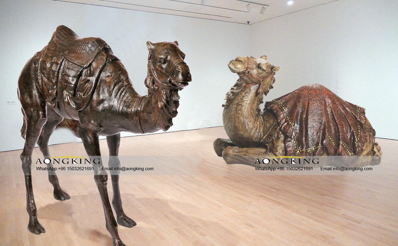Art gallery decor sculpture of bactrian camel
