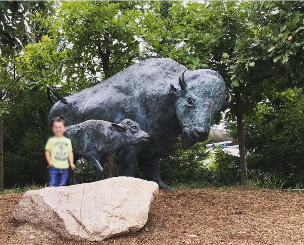 Life Size Garden Popular Buffalo & Bison Statues