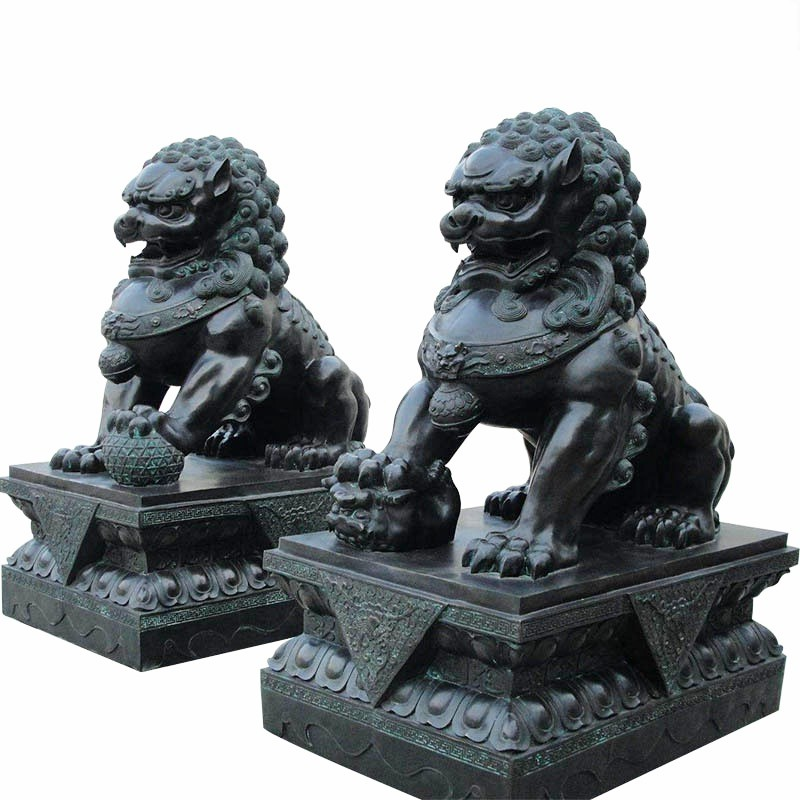 Chinese animal sculpture of lion dog