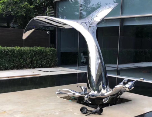 Art Yard Ornament Dolphin tail Stainless Steel sculpture For Sale