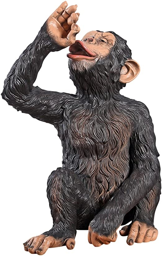 Funny Animal Decoration Drinking Monkey Resin Sculpture
