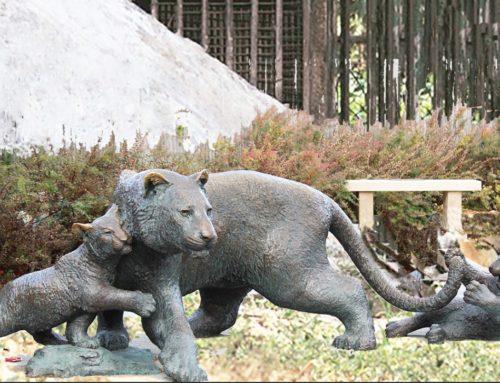 Life size bronze cast art Forest animals lion statues
