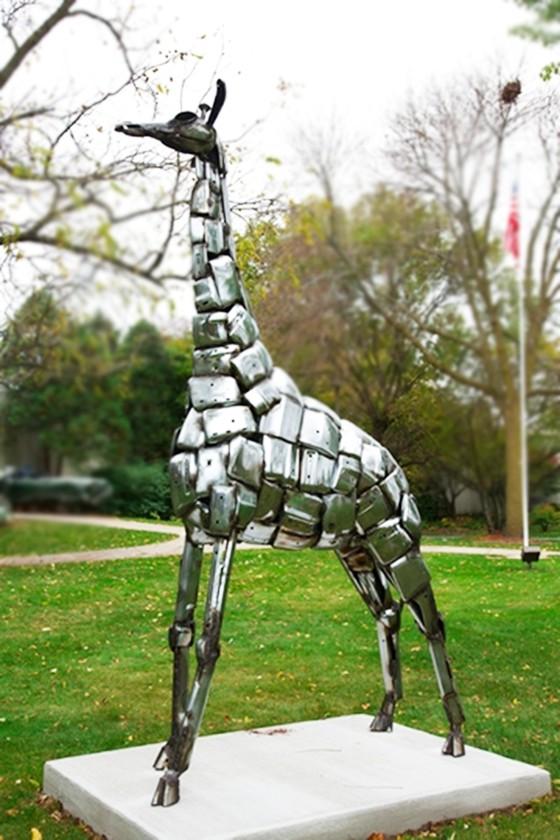 Giraffe statue for outdoor
