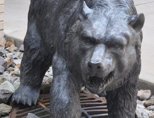 Garden large size bronze Grizzly bear sculpture for sale