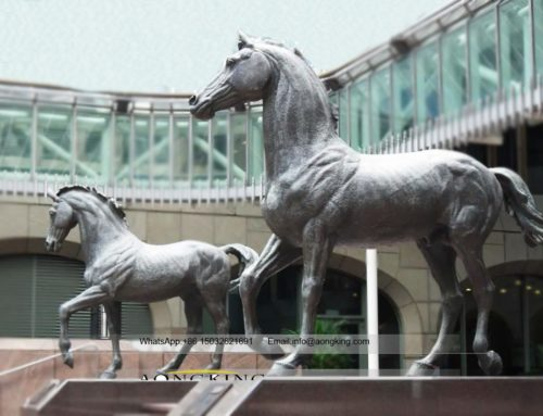Horse sculpture for outdoor court bronze sculpture