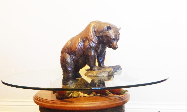Large critter bear statue