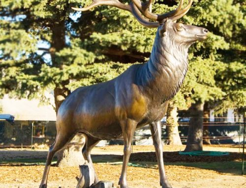 Life size bronze elk statue for sale
