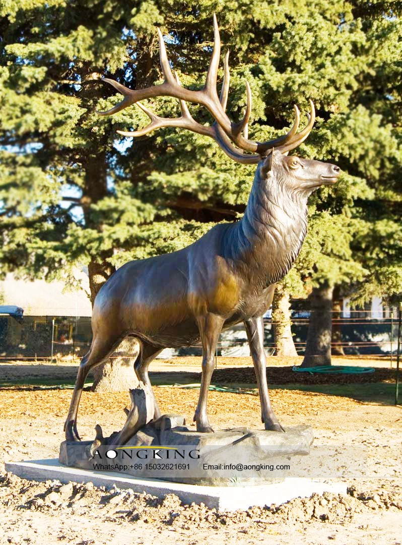 Life size elk statue for sale