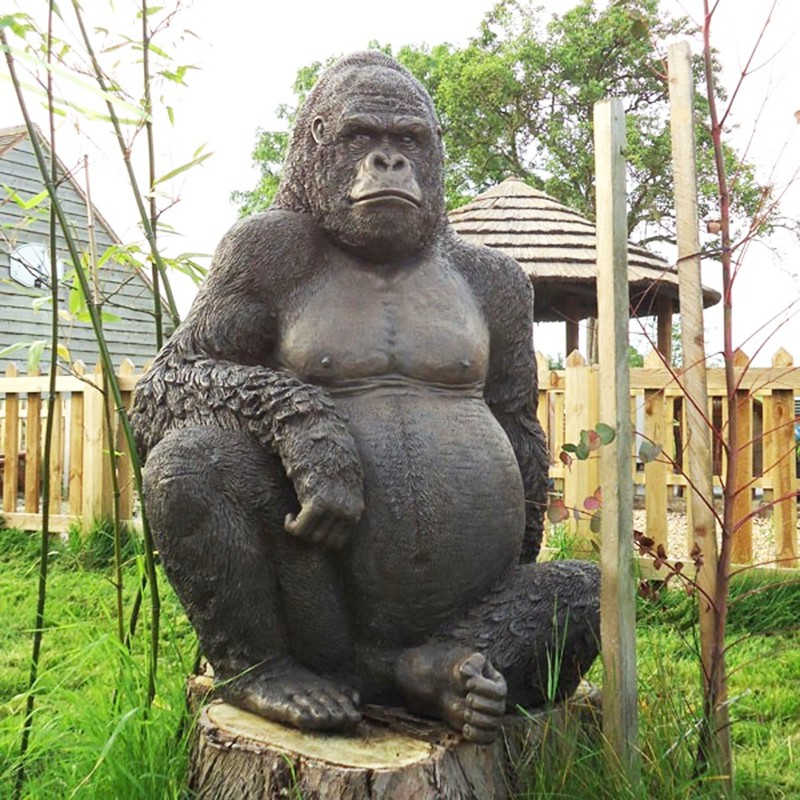 Life size gorilla garden ornament