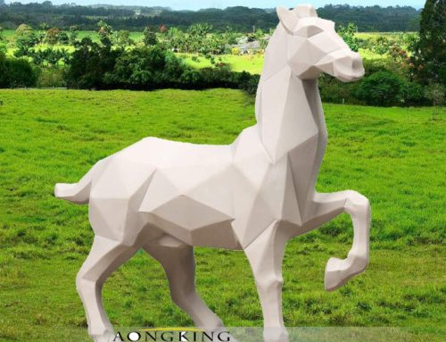 Modern metal stainless steel art horse for decor