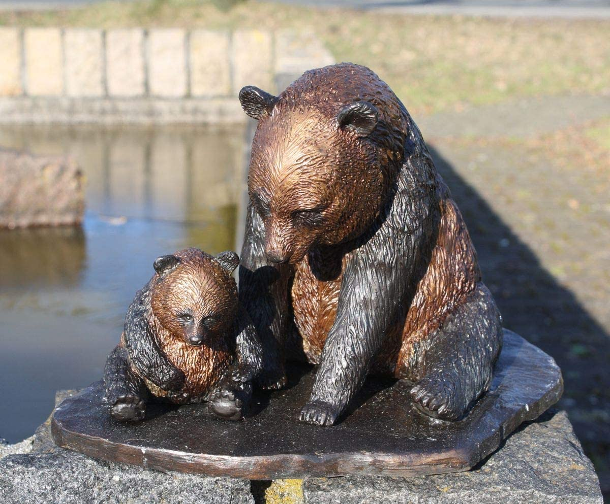Bronze Mother and Child Panda Sculpture for Animal Hospital Lake