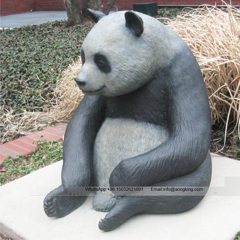 Panda animal life size statue