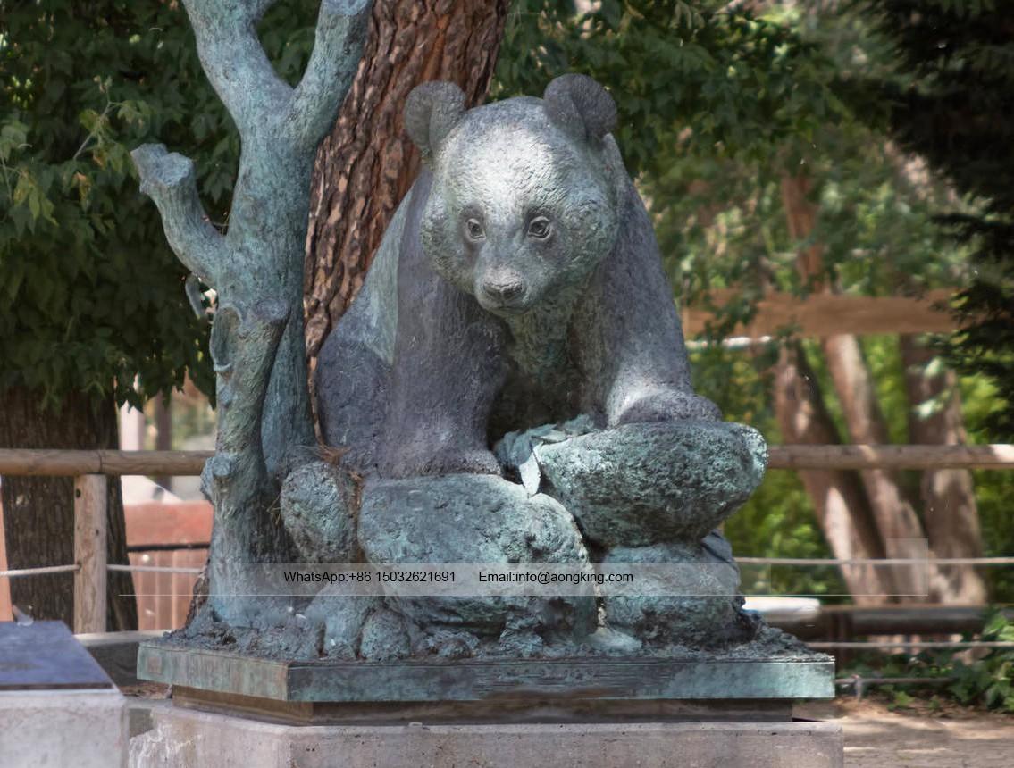 Panda bear garden statues