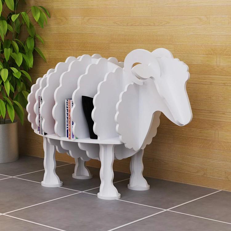 Sheep design storage closet shelf