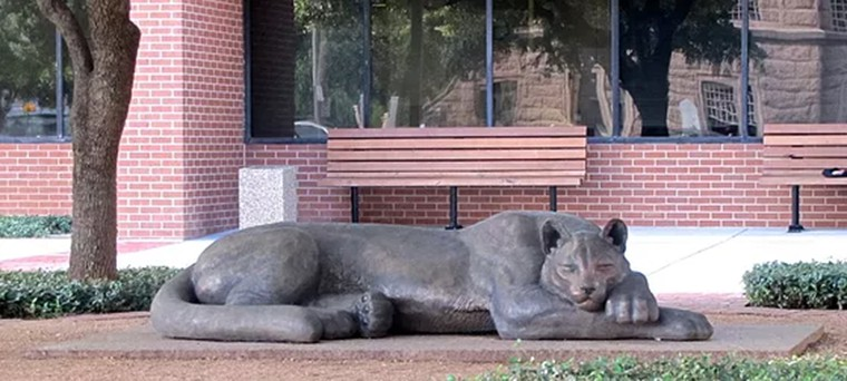Sleeping tiger garden statue