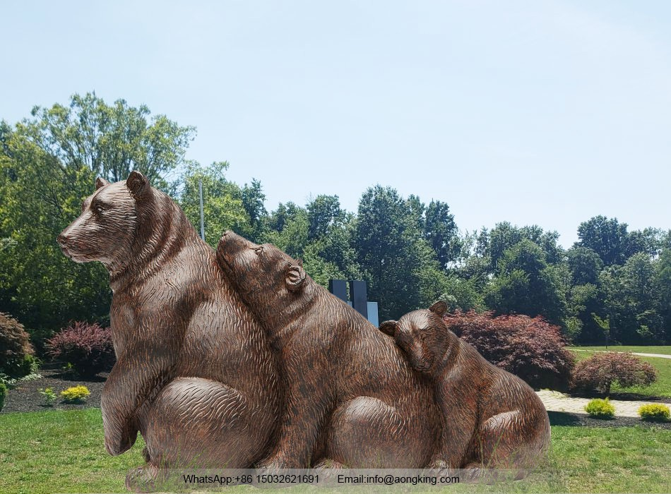 Stuffed bear statue