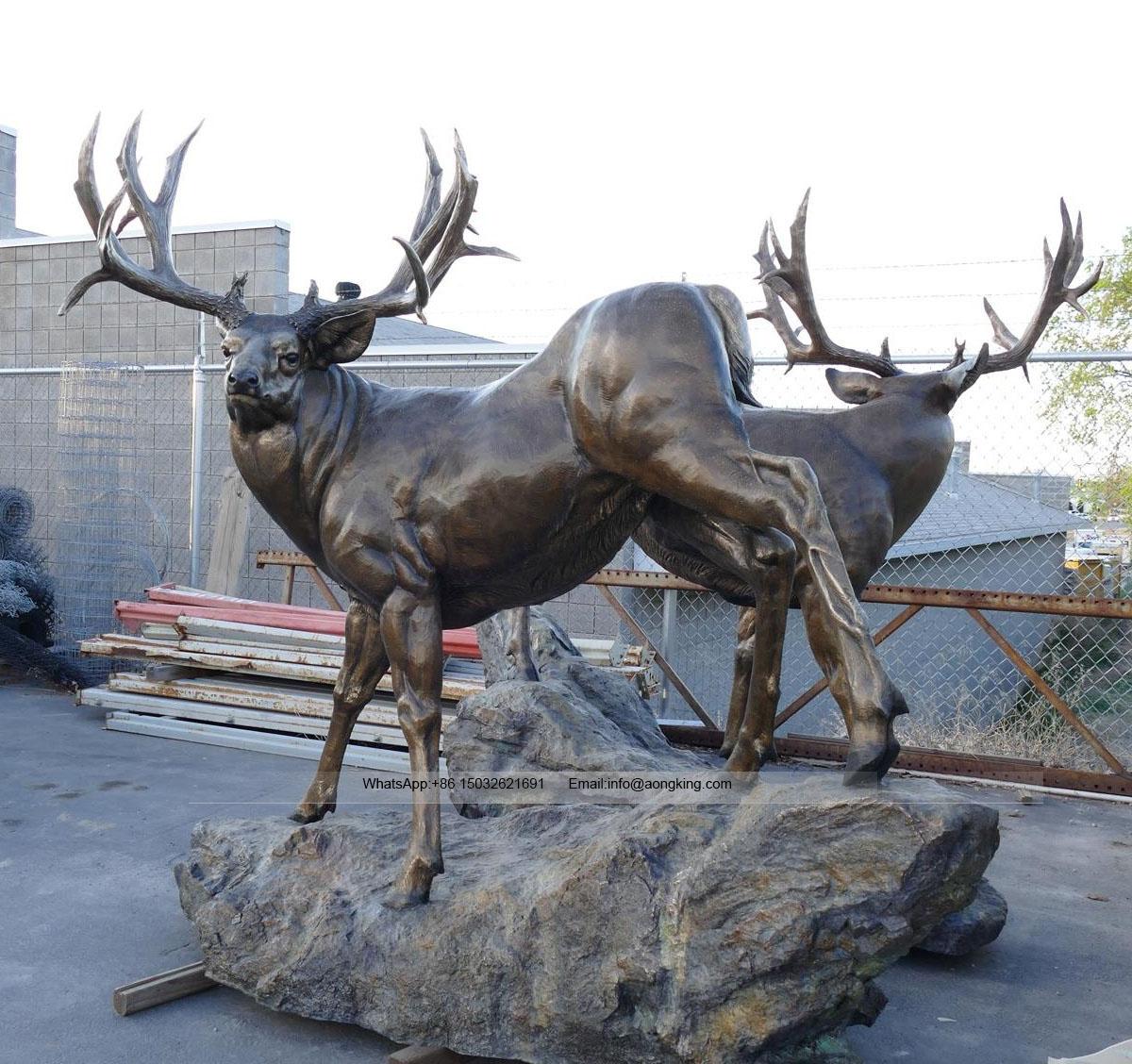 Thumbnail life size bronze elk sculpture