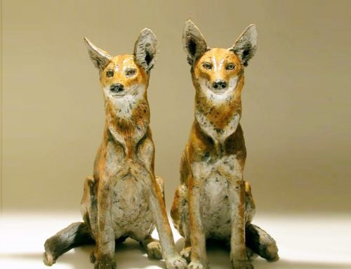 Modern bronze animal Vintage fox statues