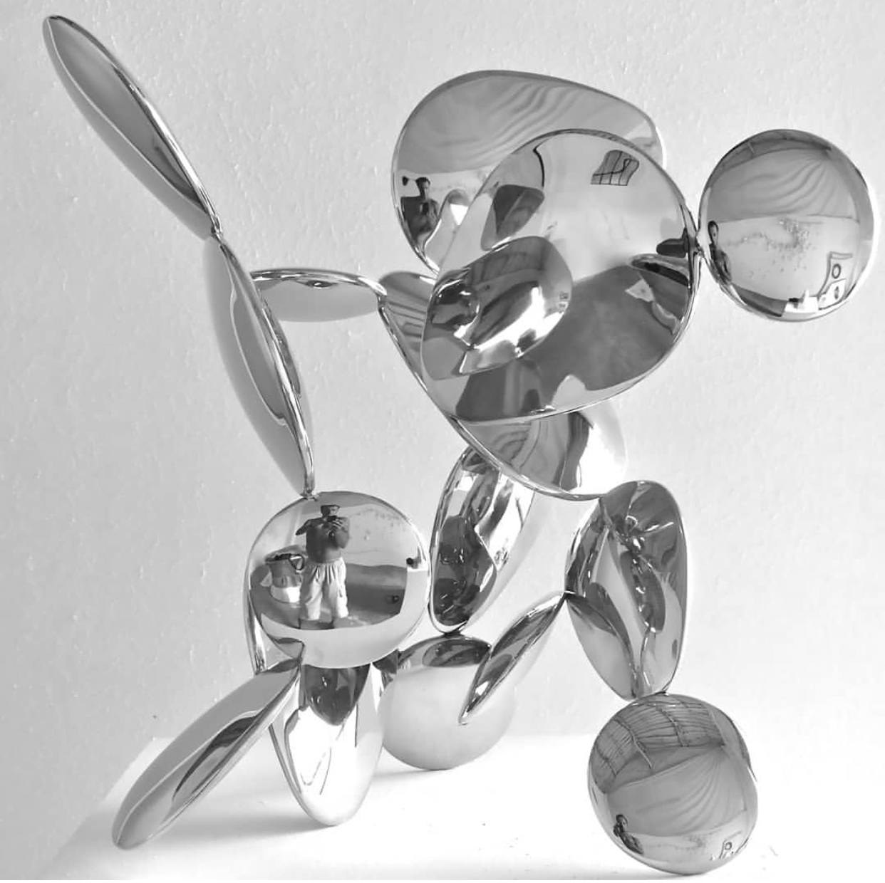 Home Decoration abstract metal animal design Stainless Steel Sculpture