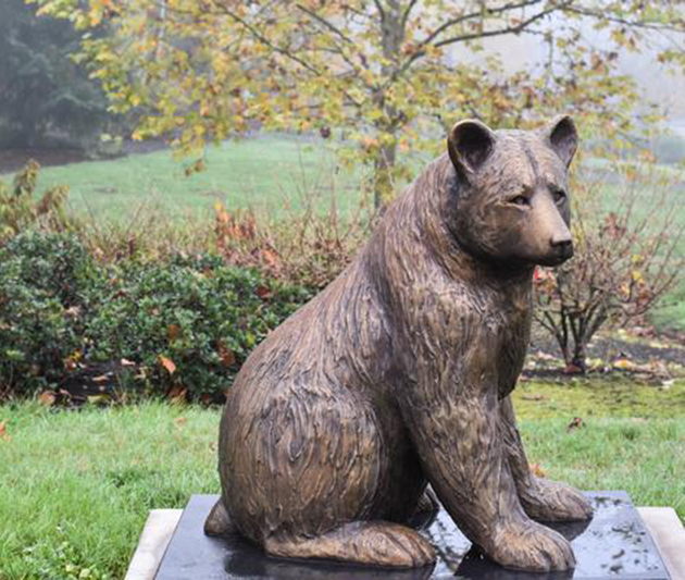 bear yard statues