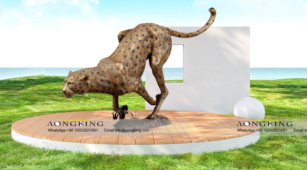 bronze cheetah