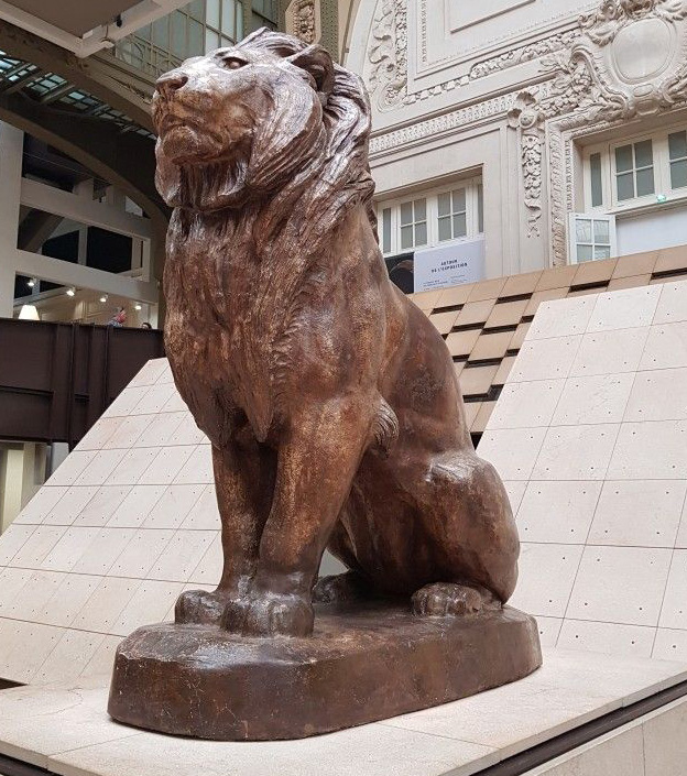 Sitting Large Outdoor Modern Carnivore Animal Lion Statue