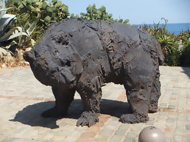 Large Outdoor Garden Art Casting Iron Black Bear Statue