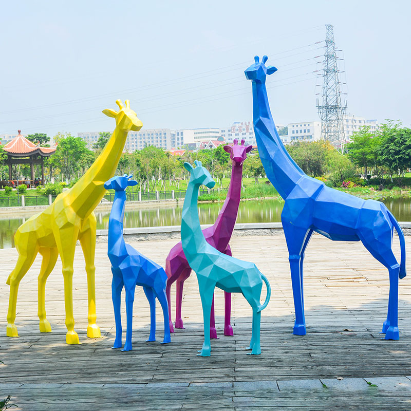 colorful giraffe statue