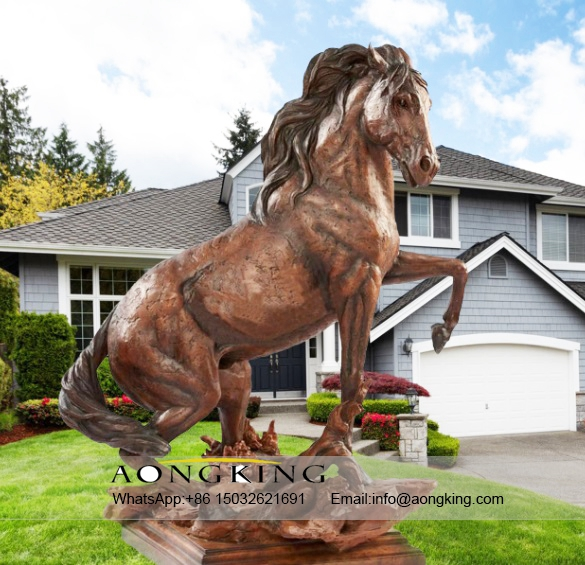 Large Life Size Outdoor Indoor Bronze Conquest Horse Sculpture
