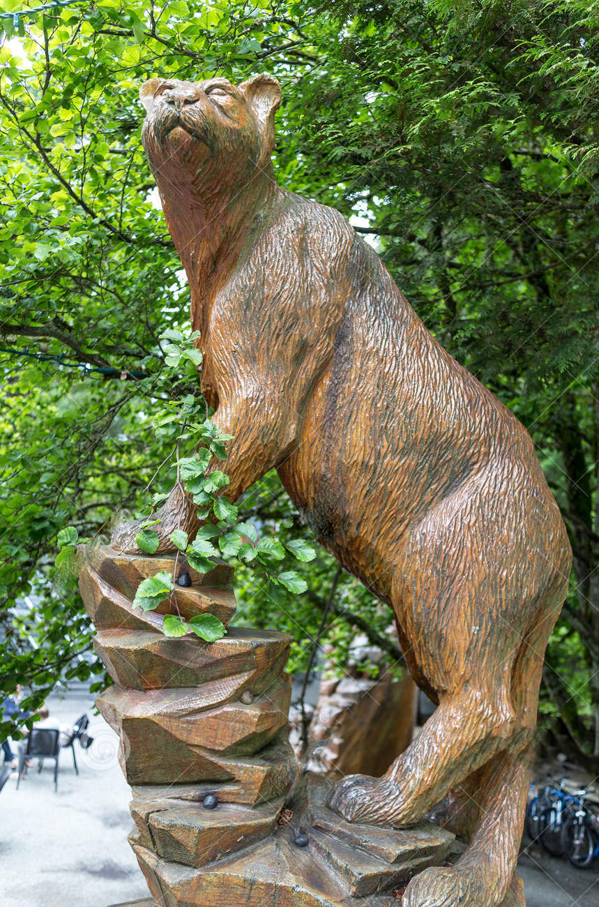 Large Outdoor Art Bronze Cougar Statue for Sale