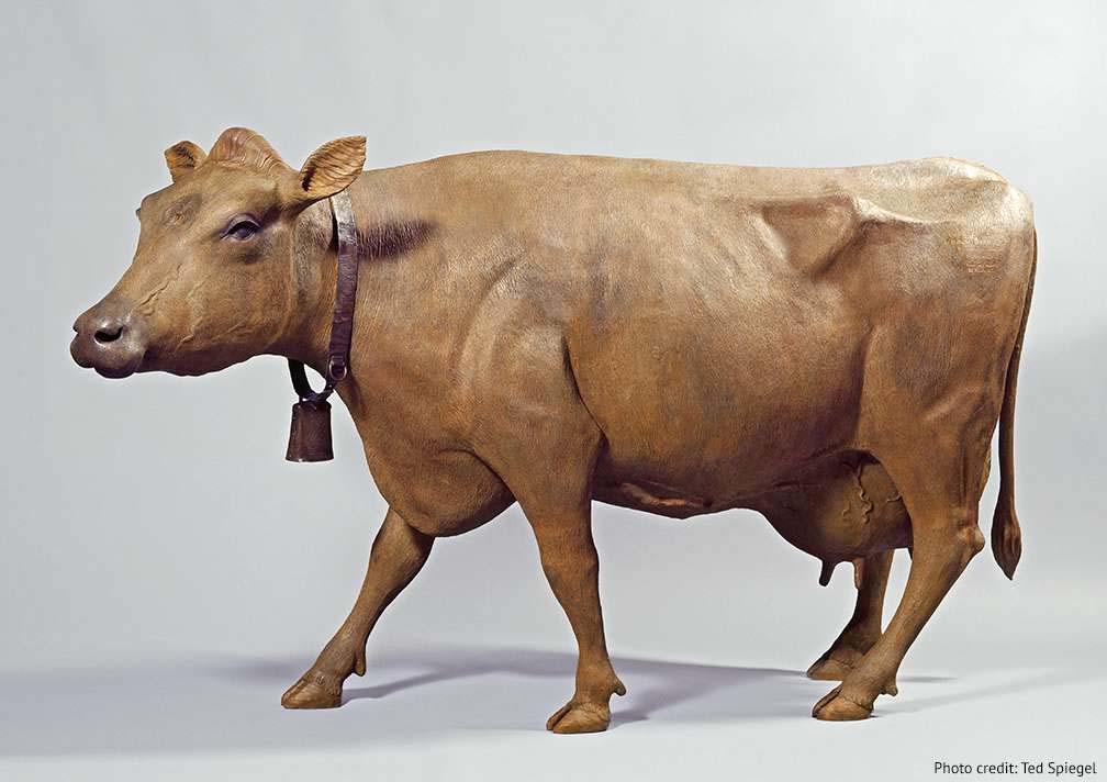 Large Life Size Cow Lawn Ornament Sculpture