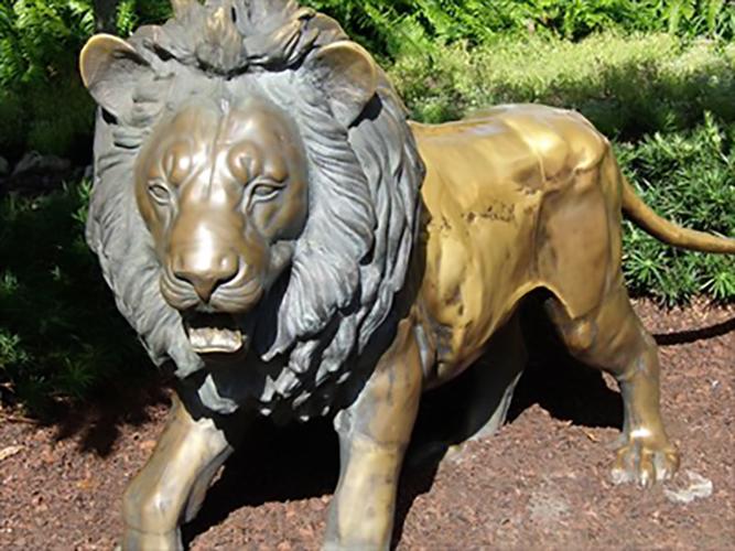 Large Outdoor Garden Bronze Art Decorative Lion Statue