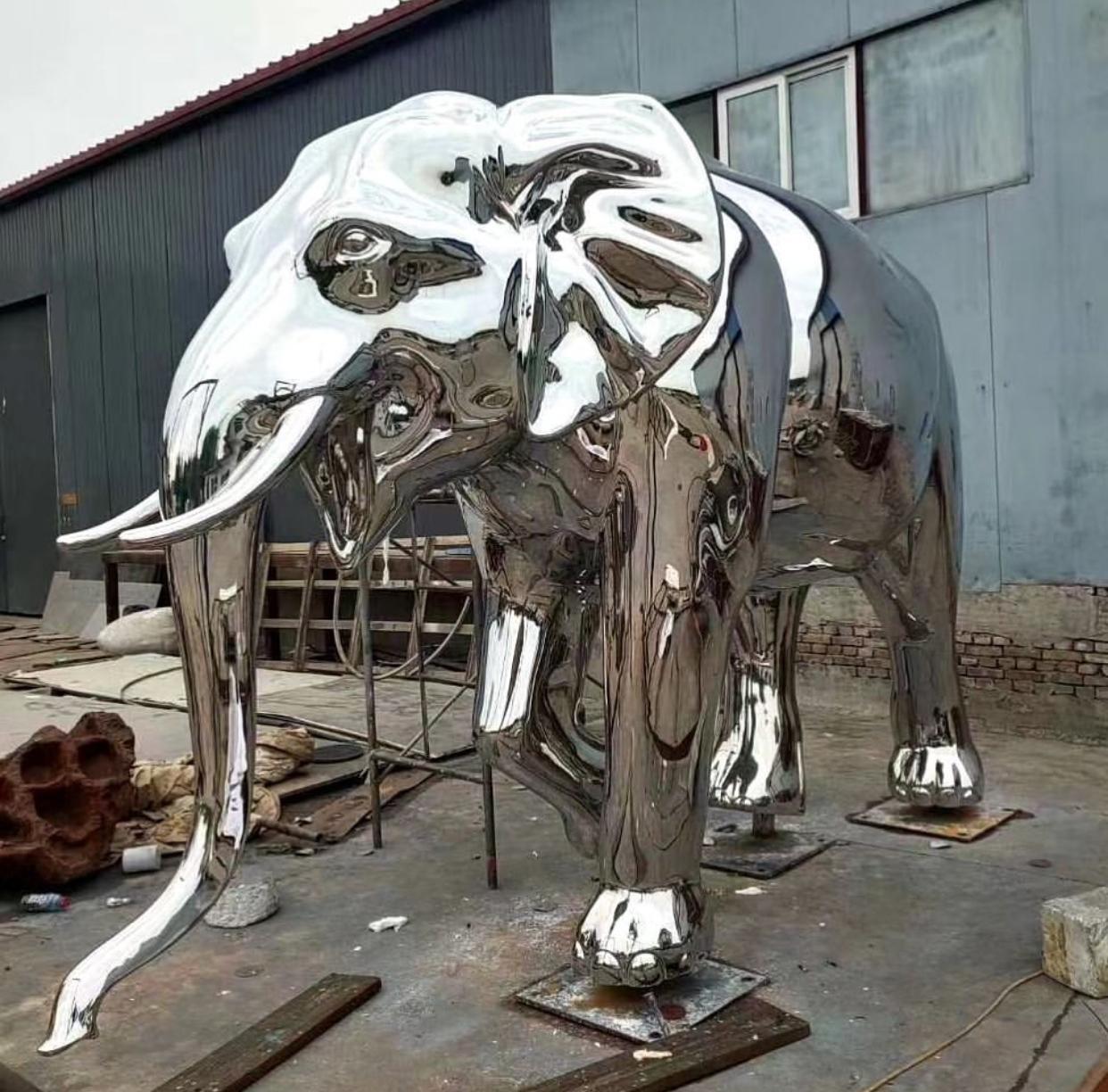 Large Modern Garden Ornament Elephant metal design steel sculpture