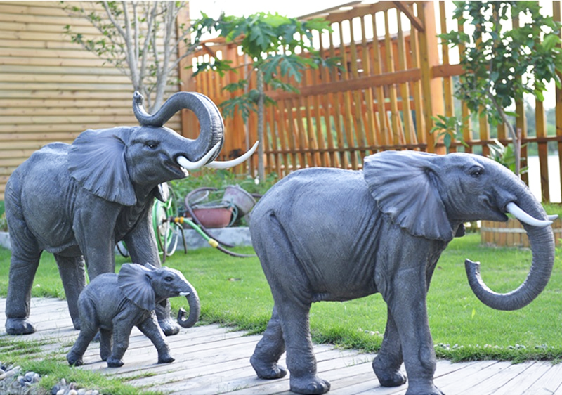 Lovely bronze elephant statues for yard