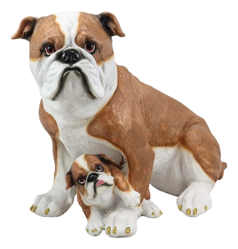 High Quality Fiberglass Design American Breeds Bulldog Statues