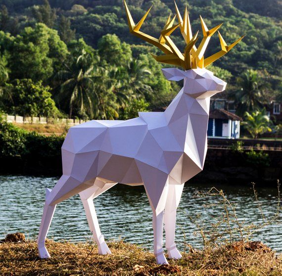 fiberglass deer sculpture