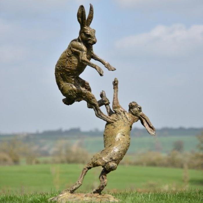 garden ornaments rabbits