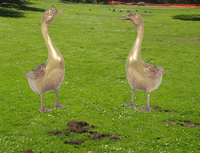 geese lawn ornaments