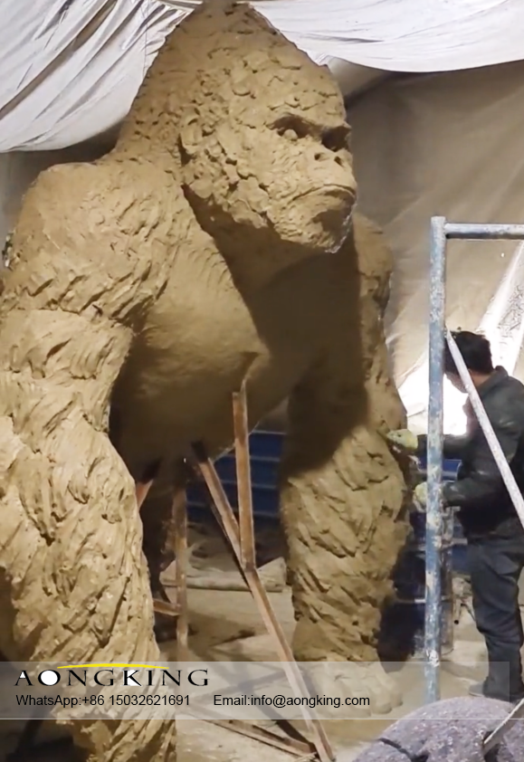 gorilla clay sculpture