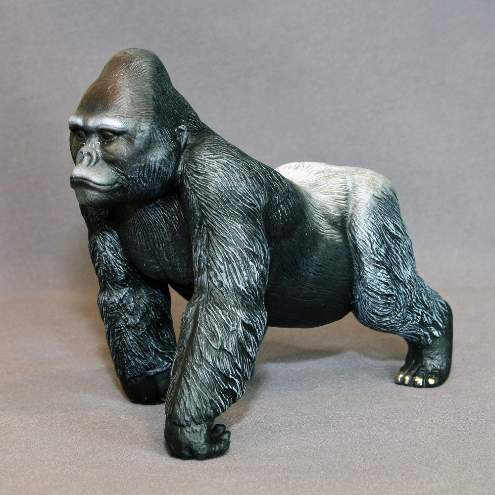 Large bronze outdoor modern animal gorilla ornaments statue