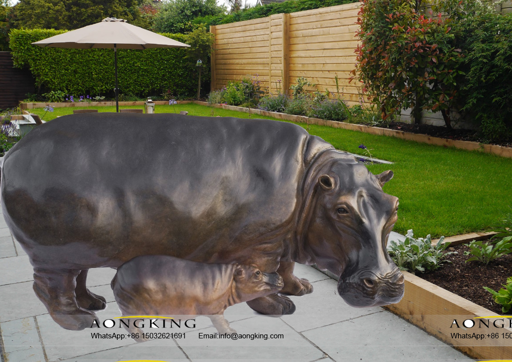 hippopotamus sculpture