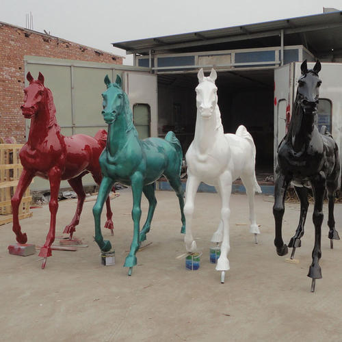 horse fiberglass, resin animal