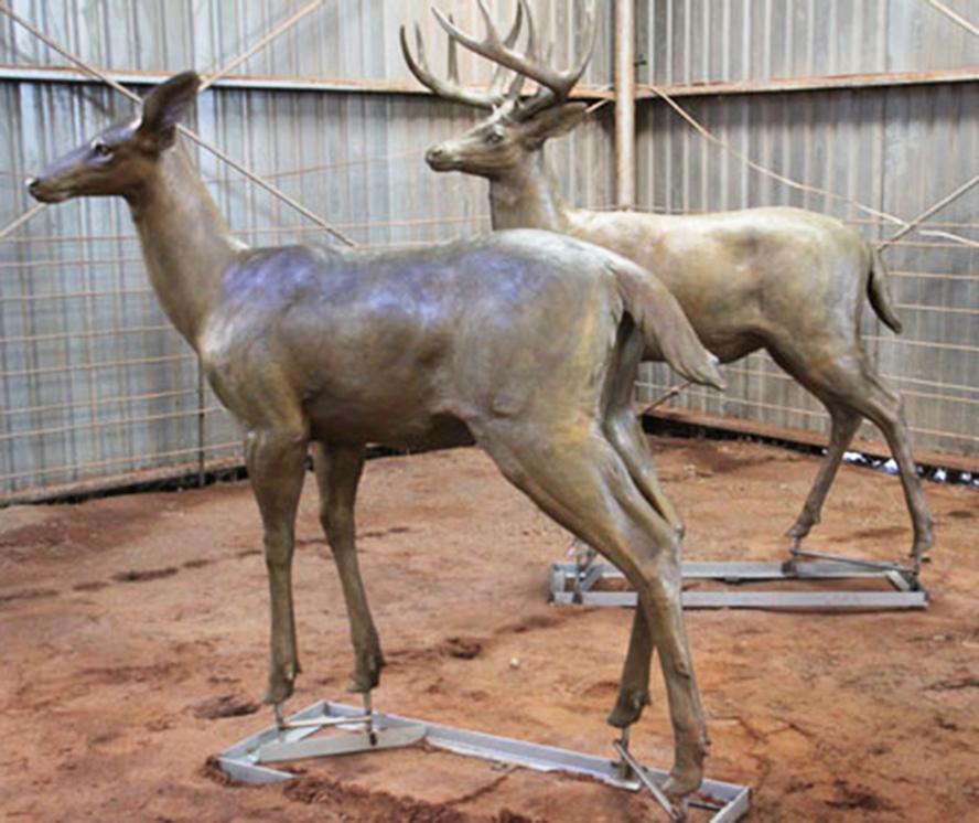 Lovely modern large deer statues