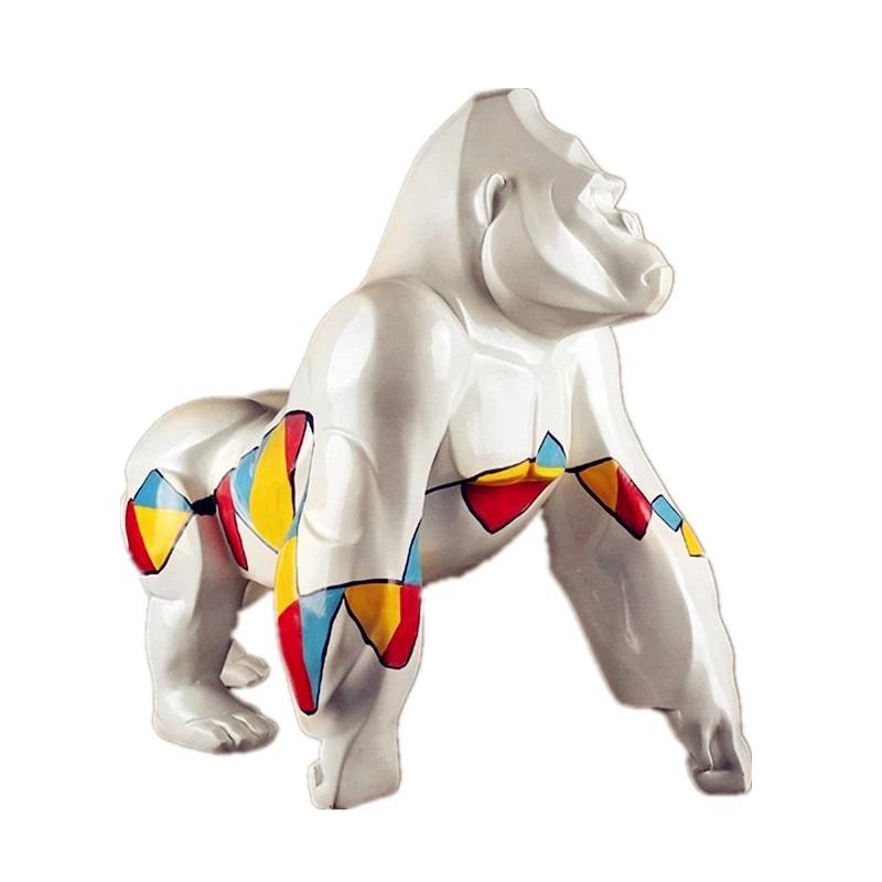 Modern Art Animal Large Resin Gorilla Statue