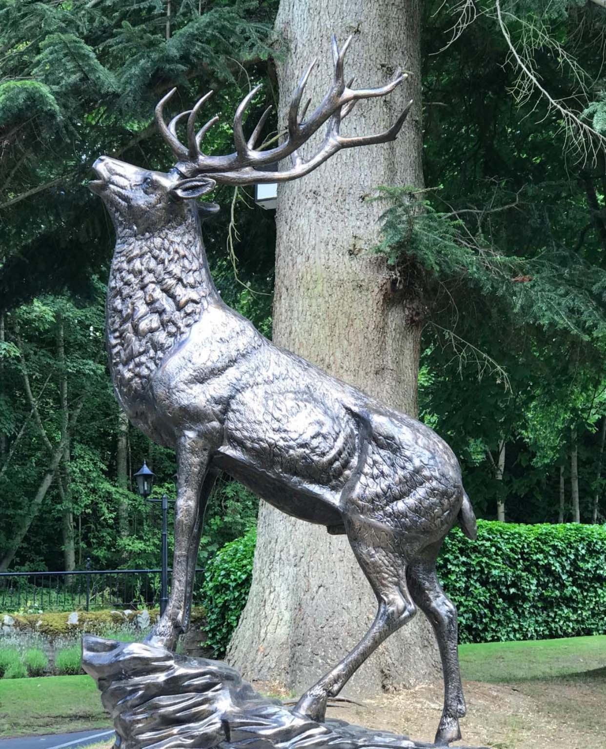 Outside Life Size Metal Bronze large stag garden statue