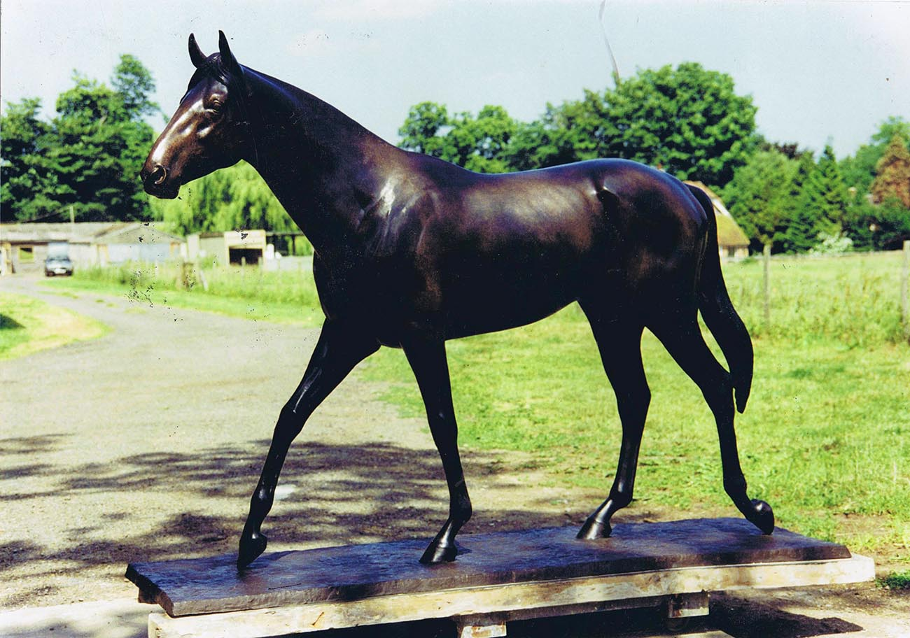 Beautiful Standing Bronze Large Life Size Outdoor Horse Statue