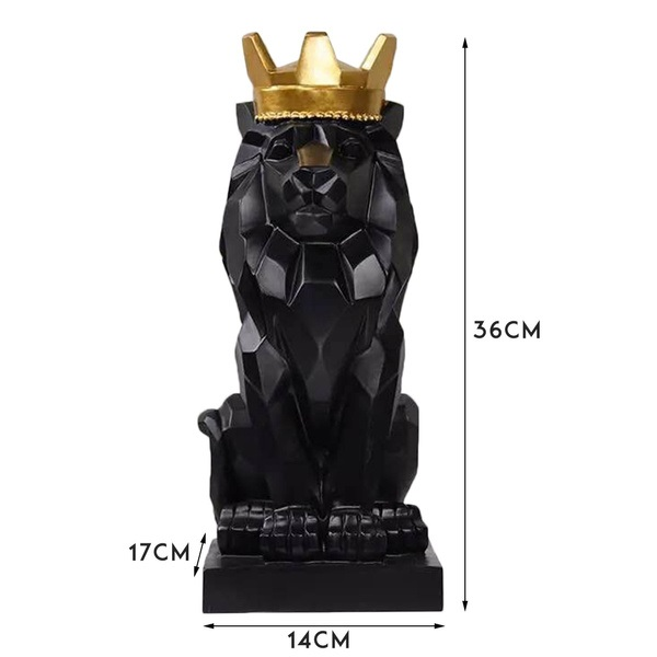 Home Ornament Lion King Fiberglass Statue for Sale